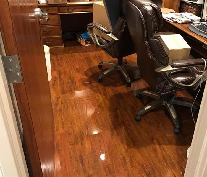 water on hardwood floor